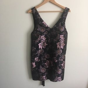 Urban Outfitters | Floral Brocade Mini Dress M